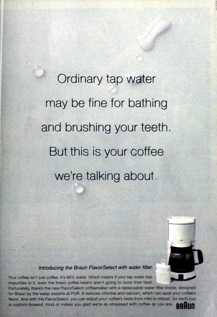 Braun coffee maker - FlavorSelect (1996)
