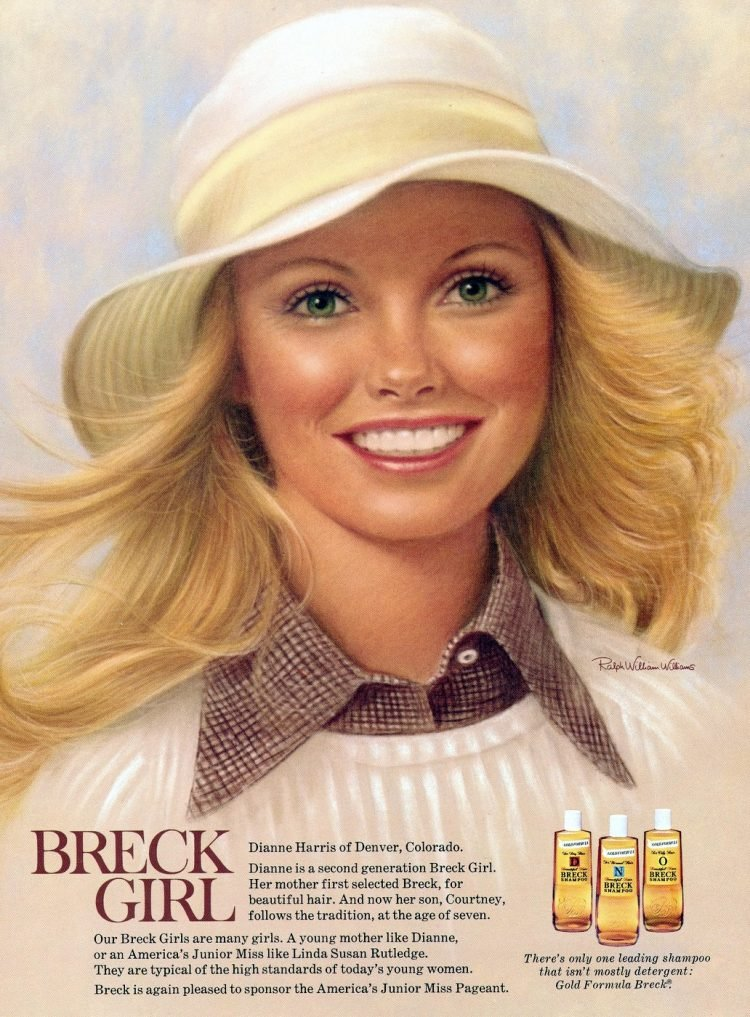 Breck 1973 - pastel portrait of Dianne Harris