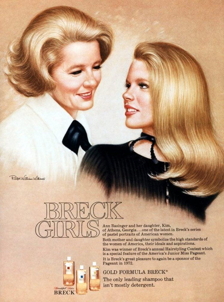 Breck 1974 - Ann Basinger and her daughter Kim Basinger