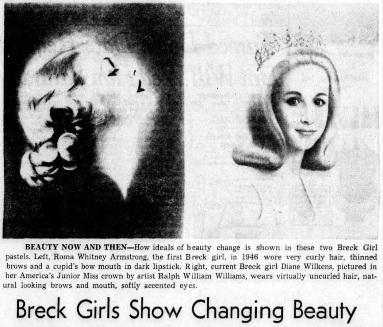 Breck Girls history - 1946 and 1966