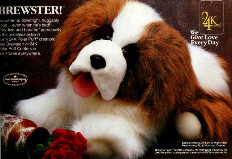 Brewster the Saint Bernard dog plush toy (1989)