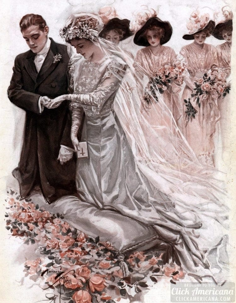 Wedding - Bride and groom at the altar - older women marry younger men