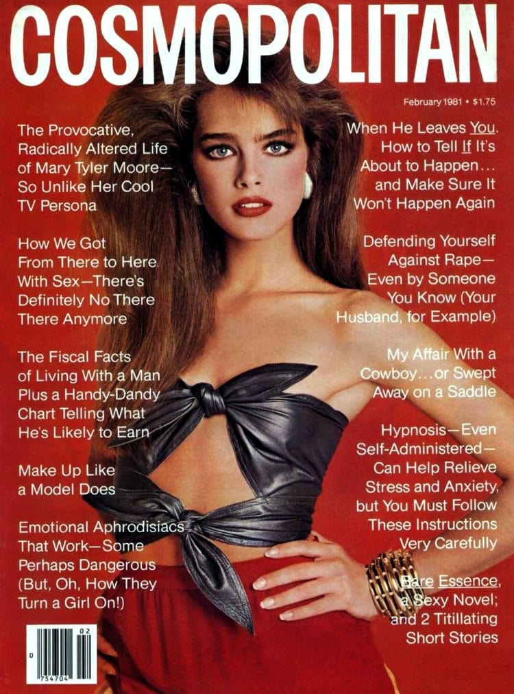 Brooke Shields on Cosmopolitan cover - 1981