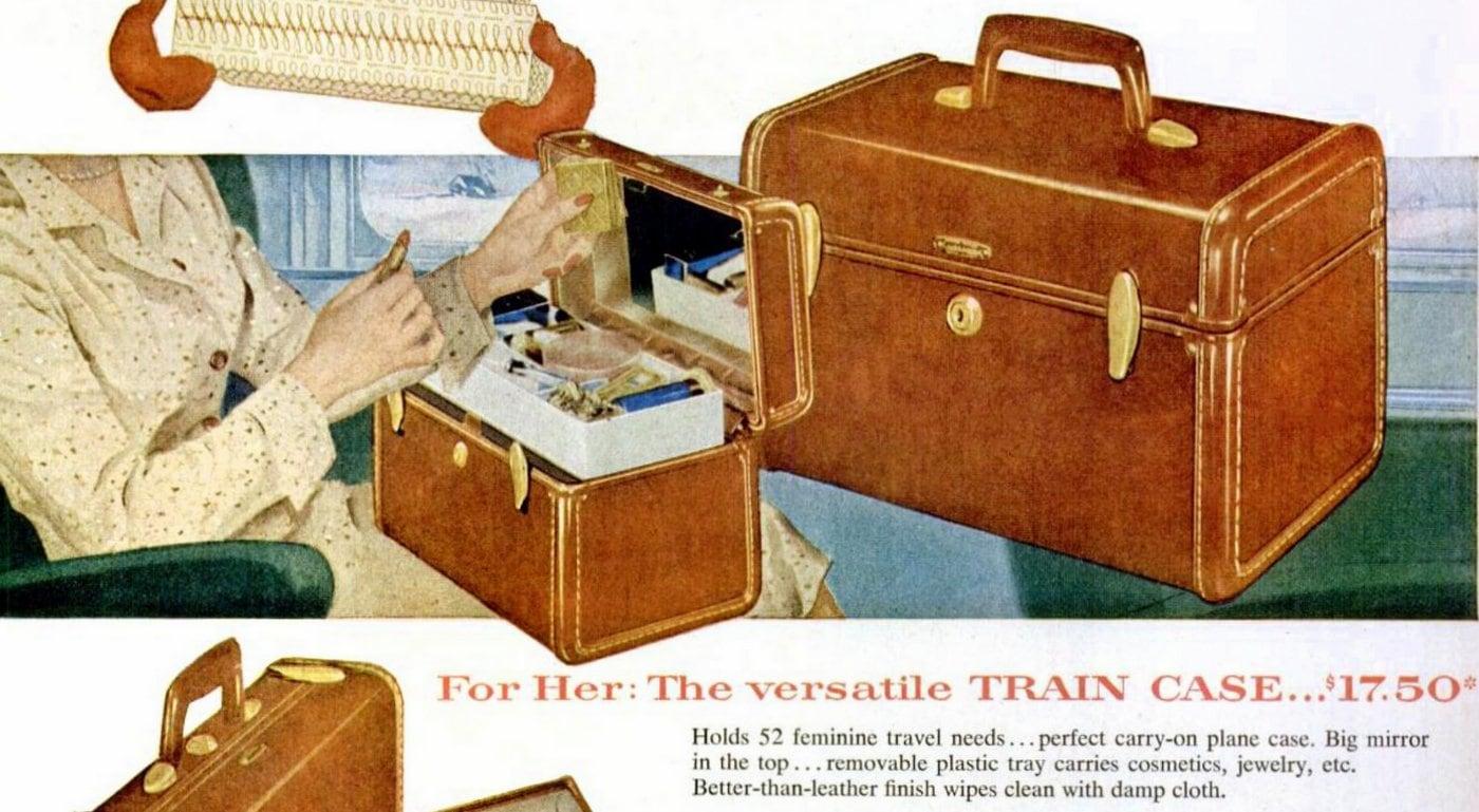 Brown Samsonite train cases - Luggage (1954)