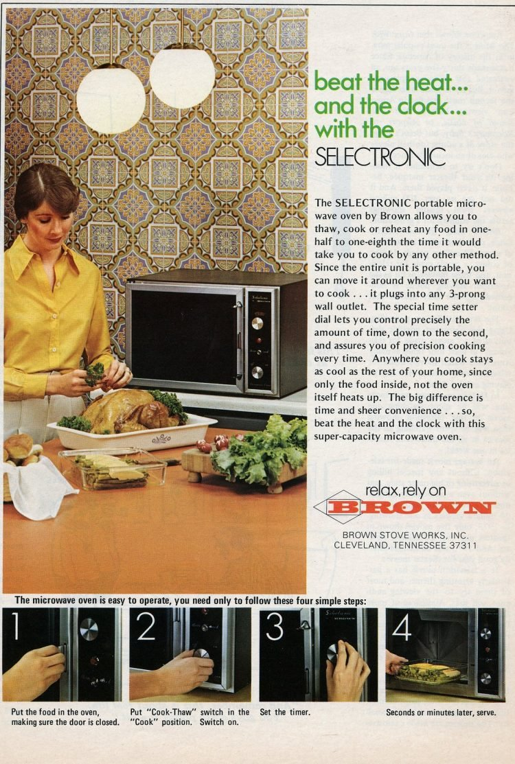 Brown Selectronic vintage microwave oven 1974