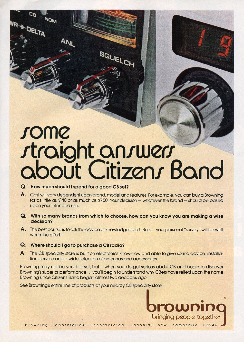 Browning - Straight answers about Citizen's Band (1977)
