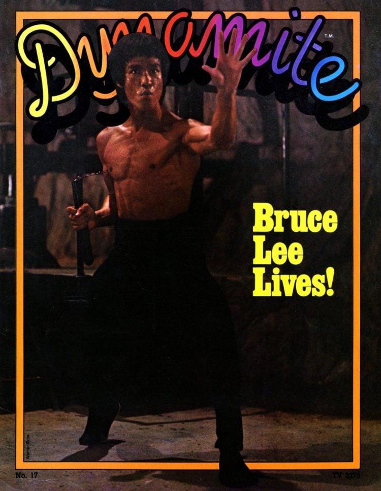 Bruce Lee cover of Dynamite Magazine Nov 1975