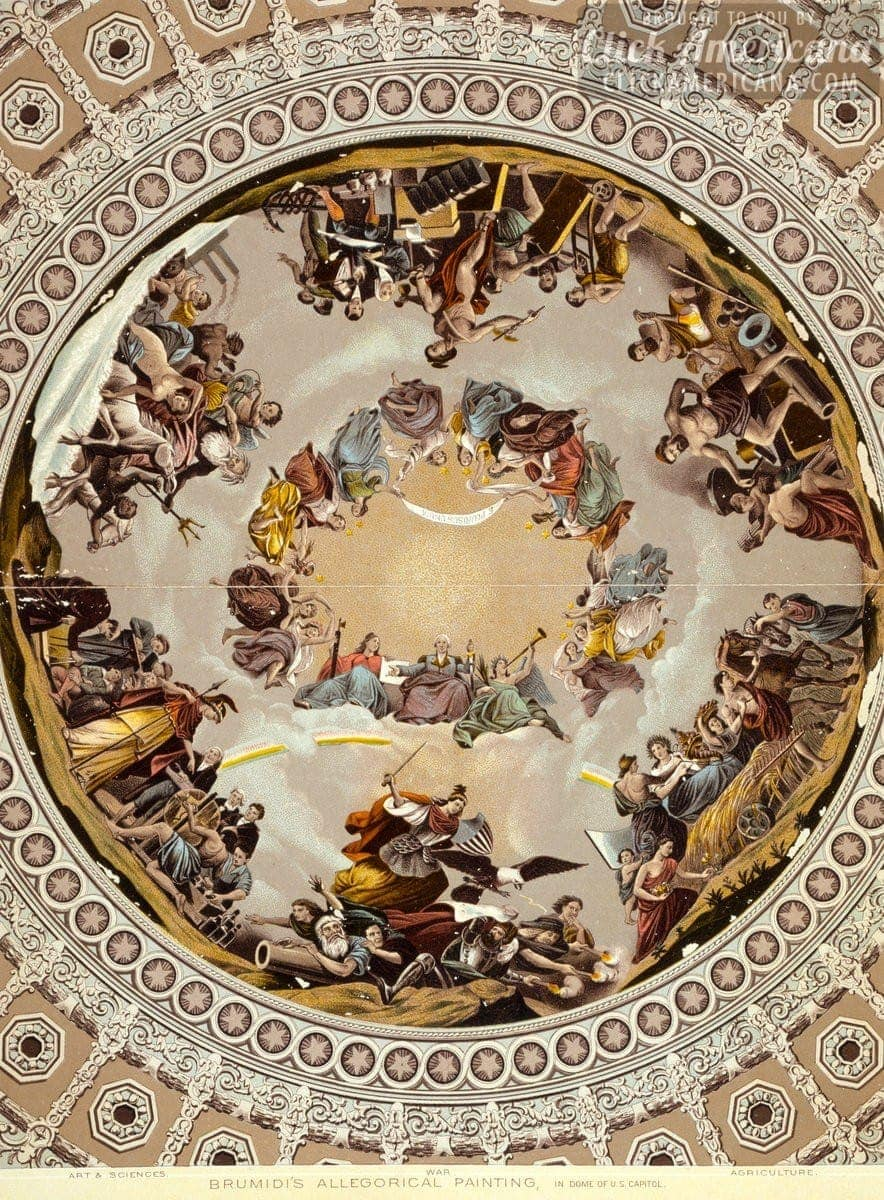 Apotheosis of Washington in the Capitol Dome (1865)