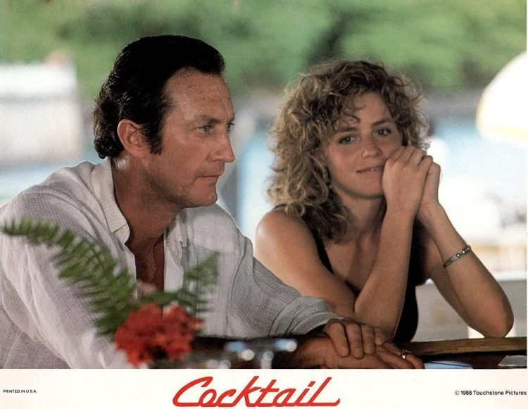 Bryan Brown and Elisabeth Shue in Cocktail movie 1988