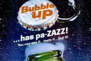 Bubble Up lemon-lime soda - Old soft drink brand