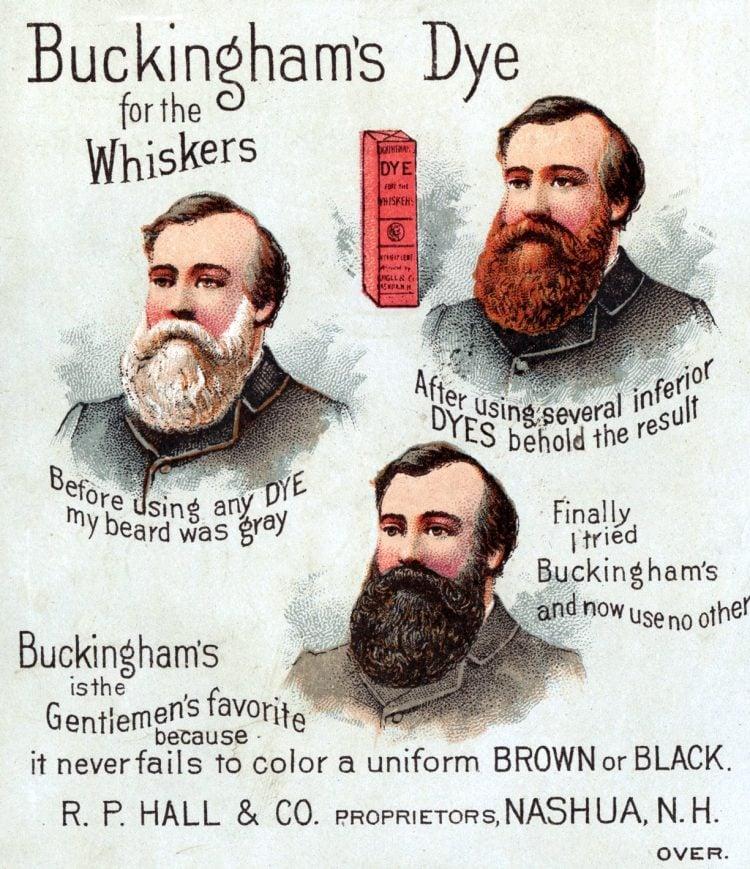 Buckingham's dye for the whiskers 1880s