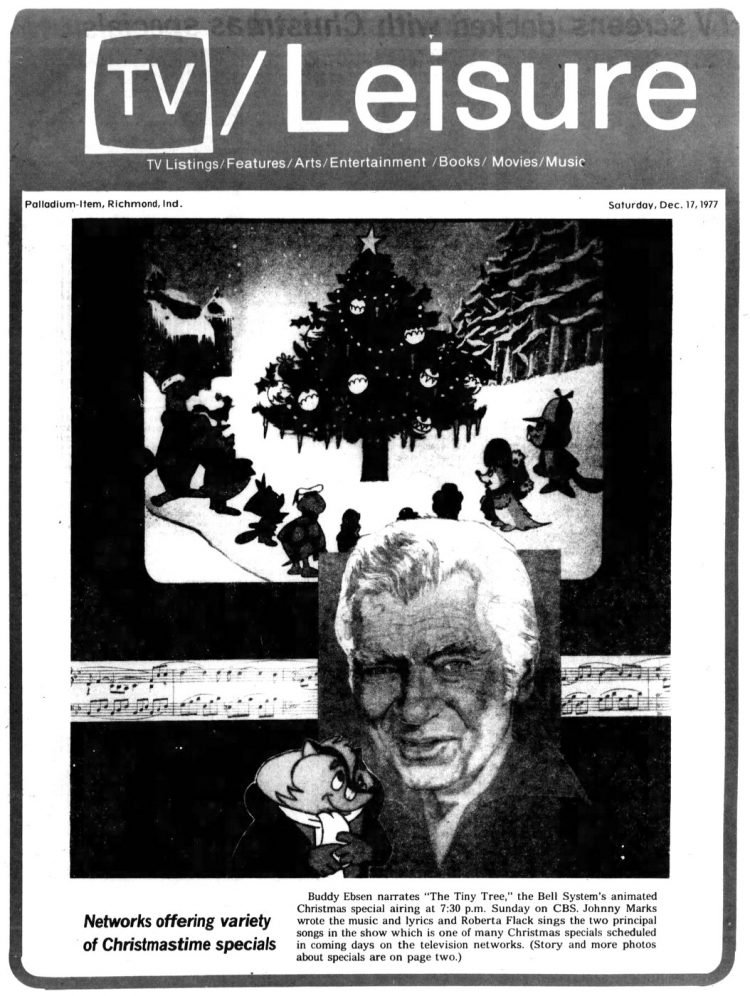 Buddy Ebsen in Christmastime special The Tiny Tree 1977