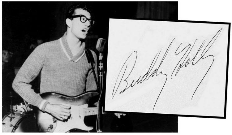 Buddy Holly autograph