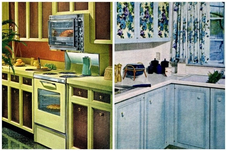 Budget vintage '60s kitchen cabinet decor