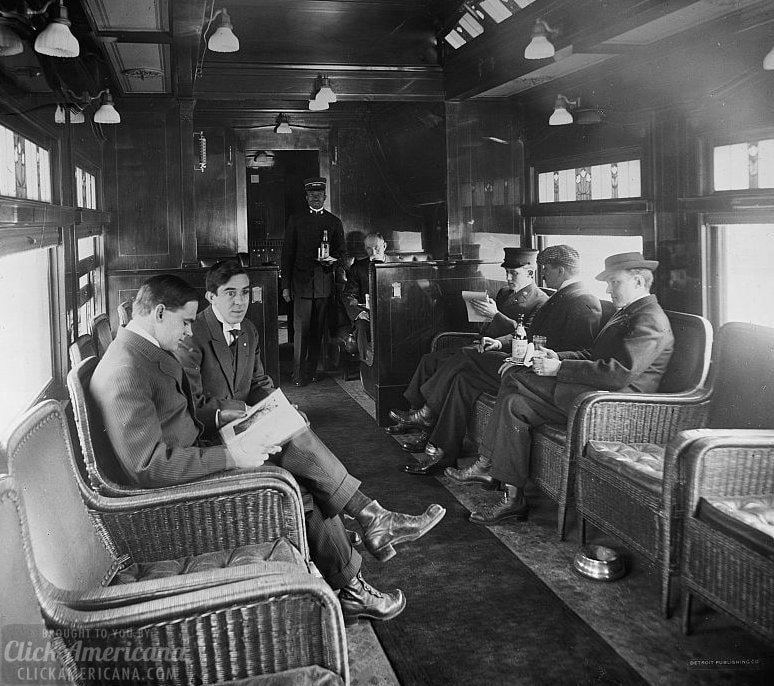 Buffet library car on a deluxe overland limited train2