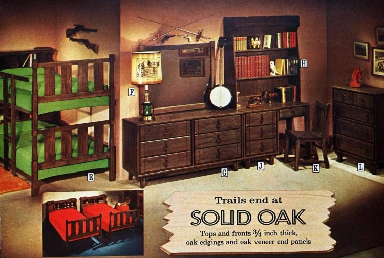 Bunk beds and bedroom furniture from Sears 1960s