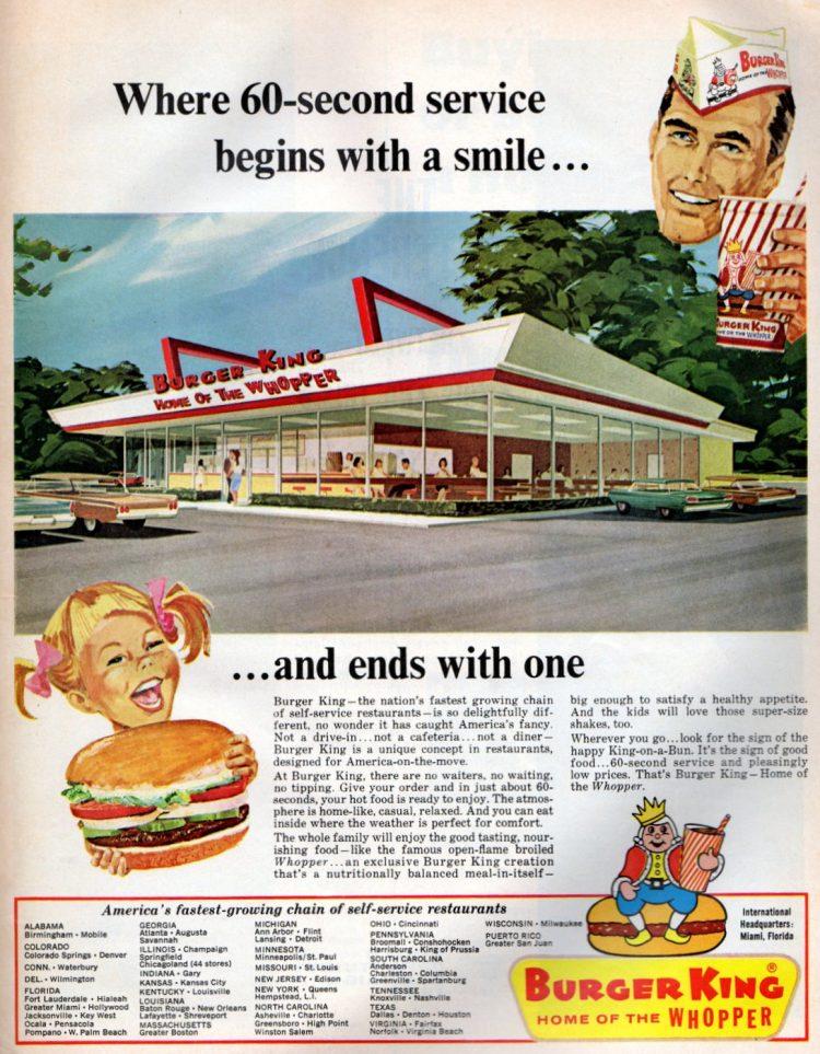 Burger King The vintage fast food restaurant 1966
