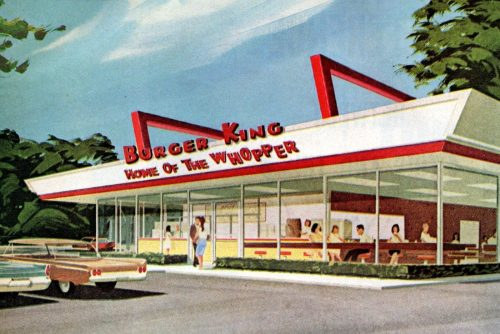 Burger King The vintage fast food restaurant