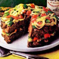 Burger layer cake Quick vintage meatloaf recipe