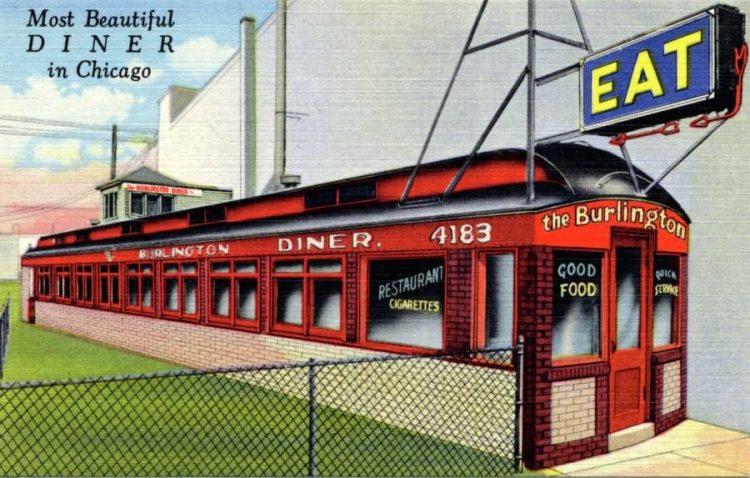 Burlington Diner - Chicago - 1942