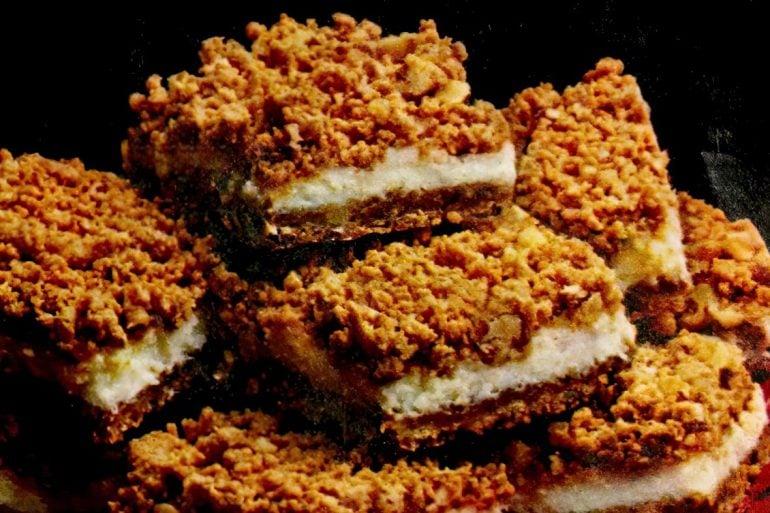 Butterscotch cheesecake bars (1983)