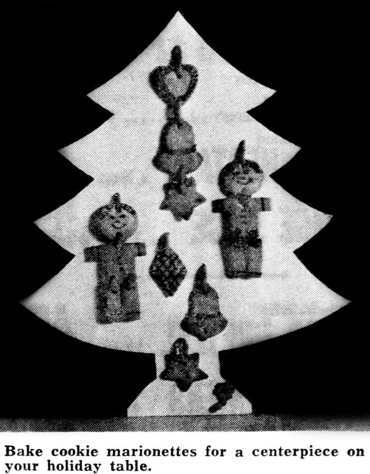 Butterscotch cookie marionettes - Vintage Christmas cookies recipe from 1970