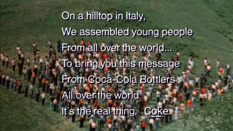Buy the world a Coke - Coca Cola vintage TV commercial 1971 (1)