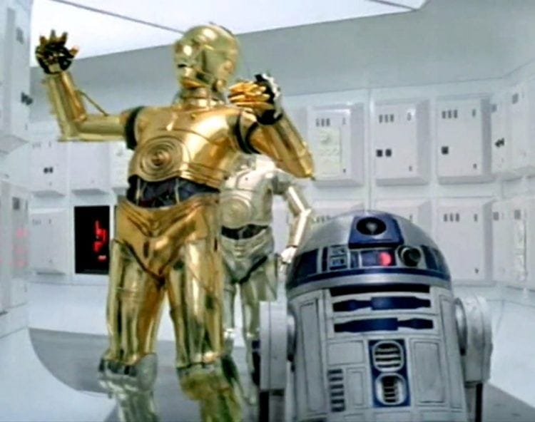 C3PO and R2D2 in Star Wars