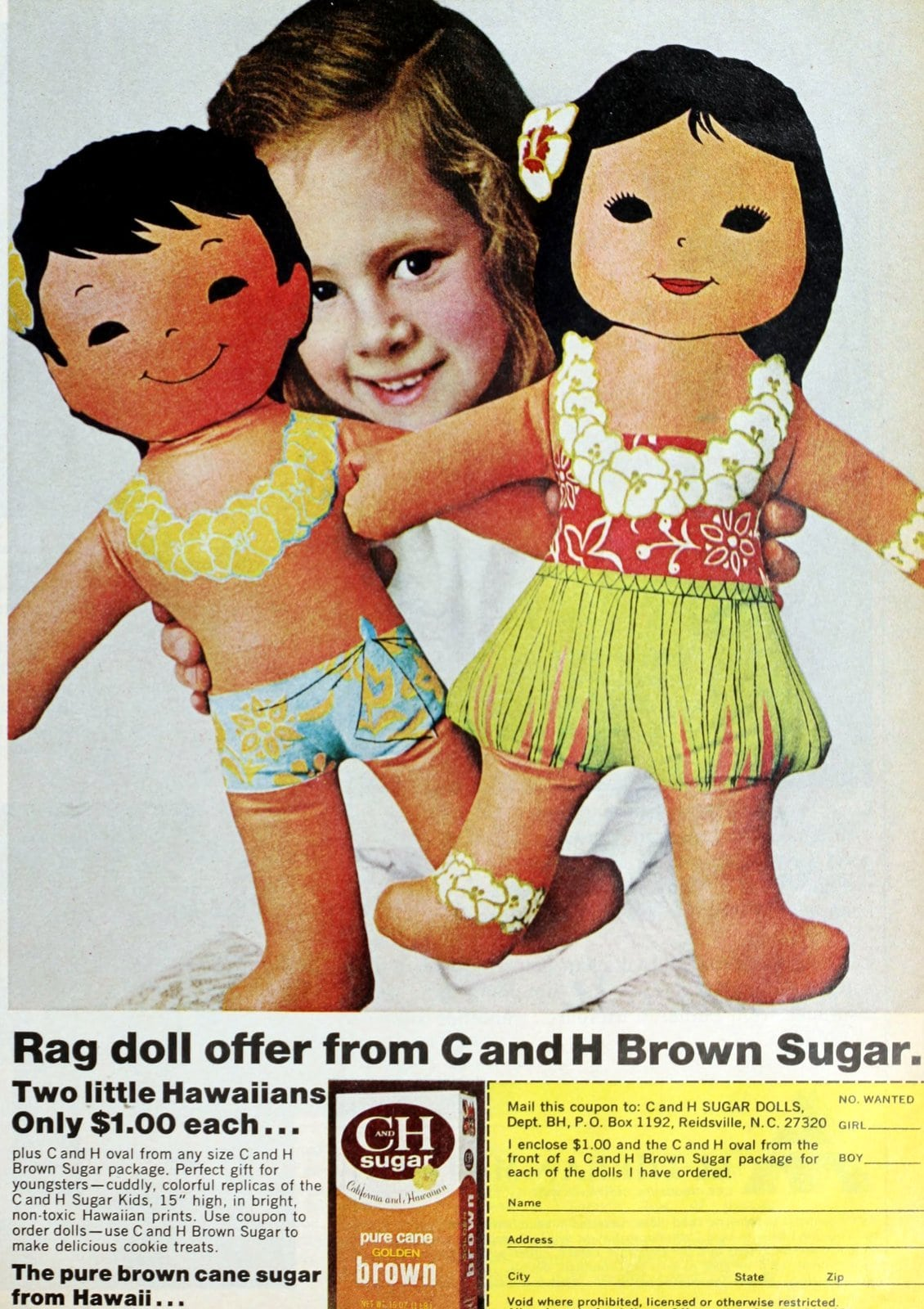 C and H sugar rag doll toy offer (1972)