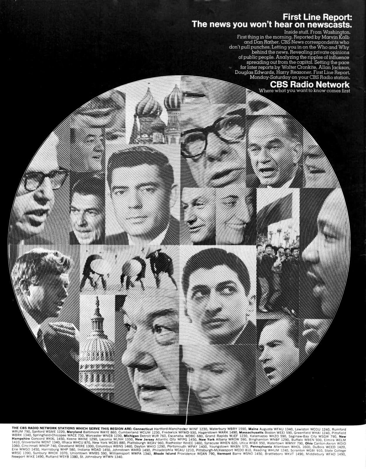 CBS radio news - First line report (1968)