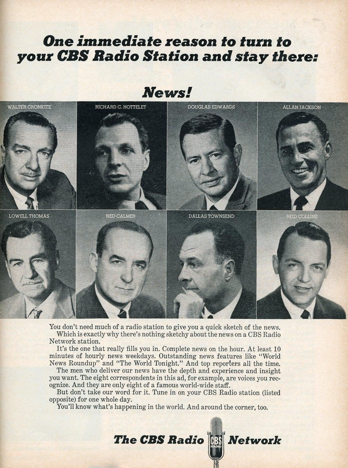 CBS radio newscasters (1965)