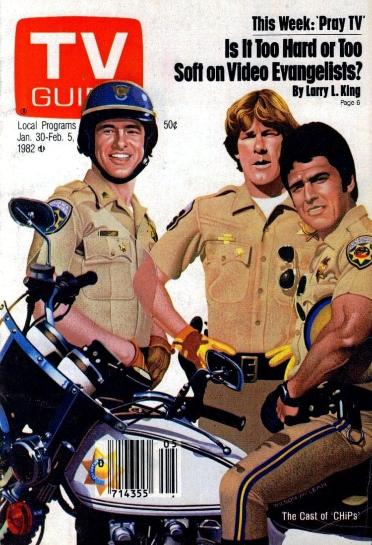 CHIPS TV Guide cover 1982
