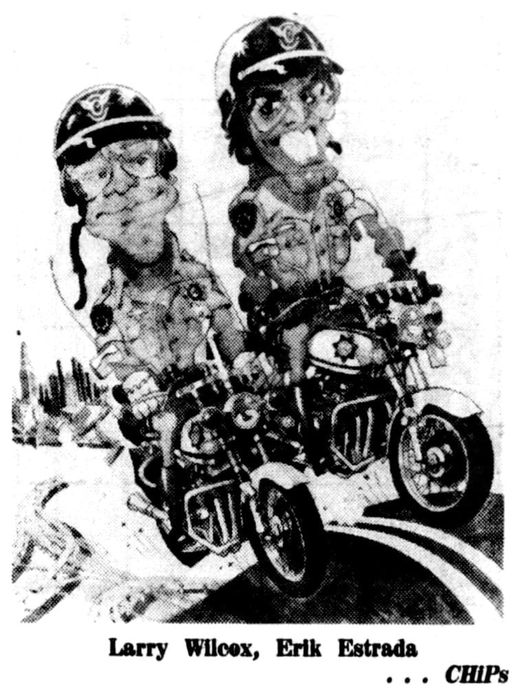 CHiPs Ponch and John cartoon from 1977