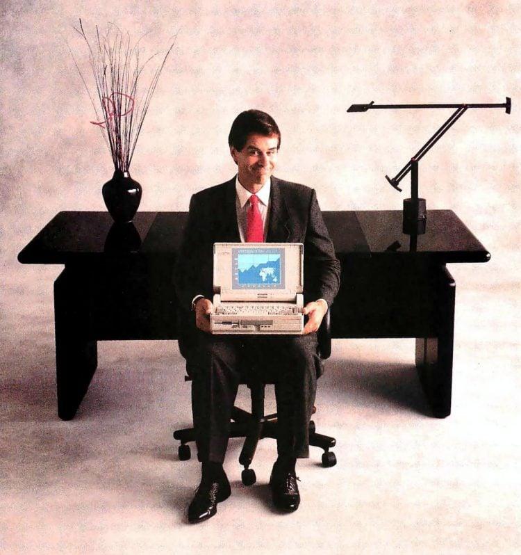 COMPAQ SLT286 laptop personal computer 1988