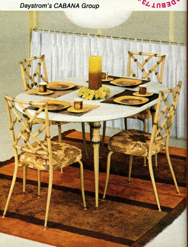 Cabana dining table and bamboo-effect chairs - Vintage home