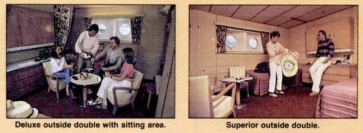 Cabins onboard the Rhaposdy ship - 1985