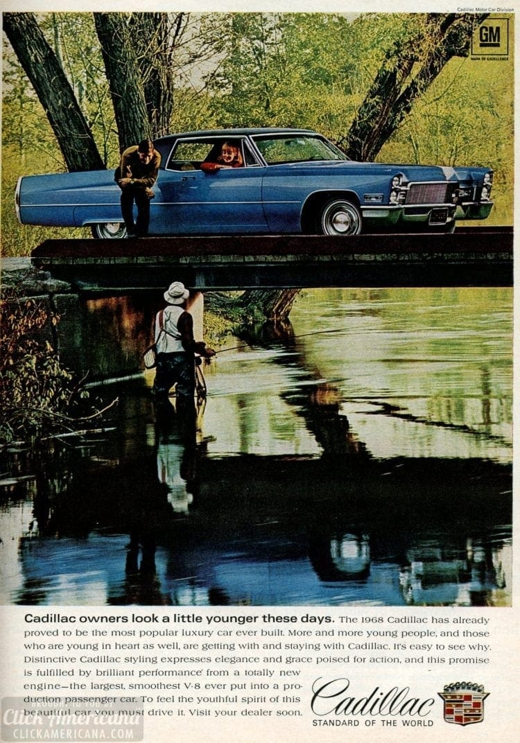 Cadillac cars from Feb 1968