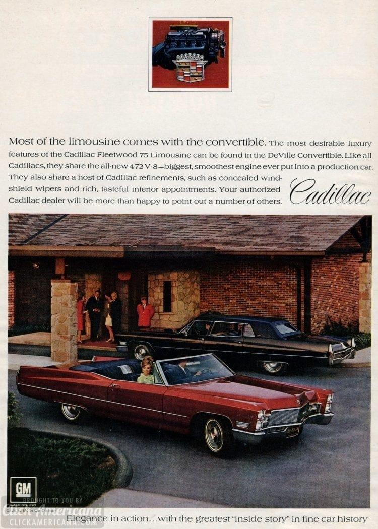 68 Cadillacs - cars from January 1968