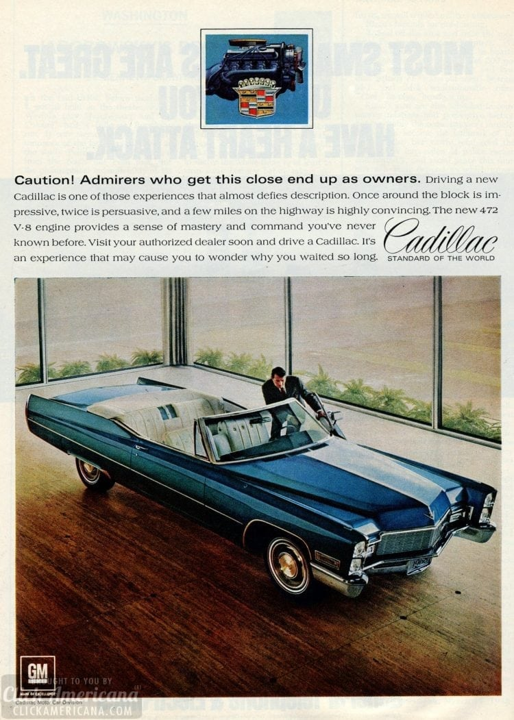 68 Cadillacs cars from March 1968