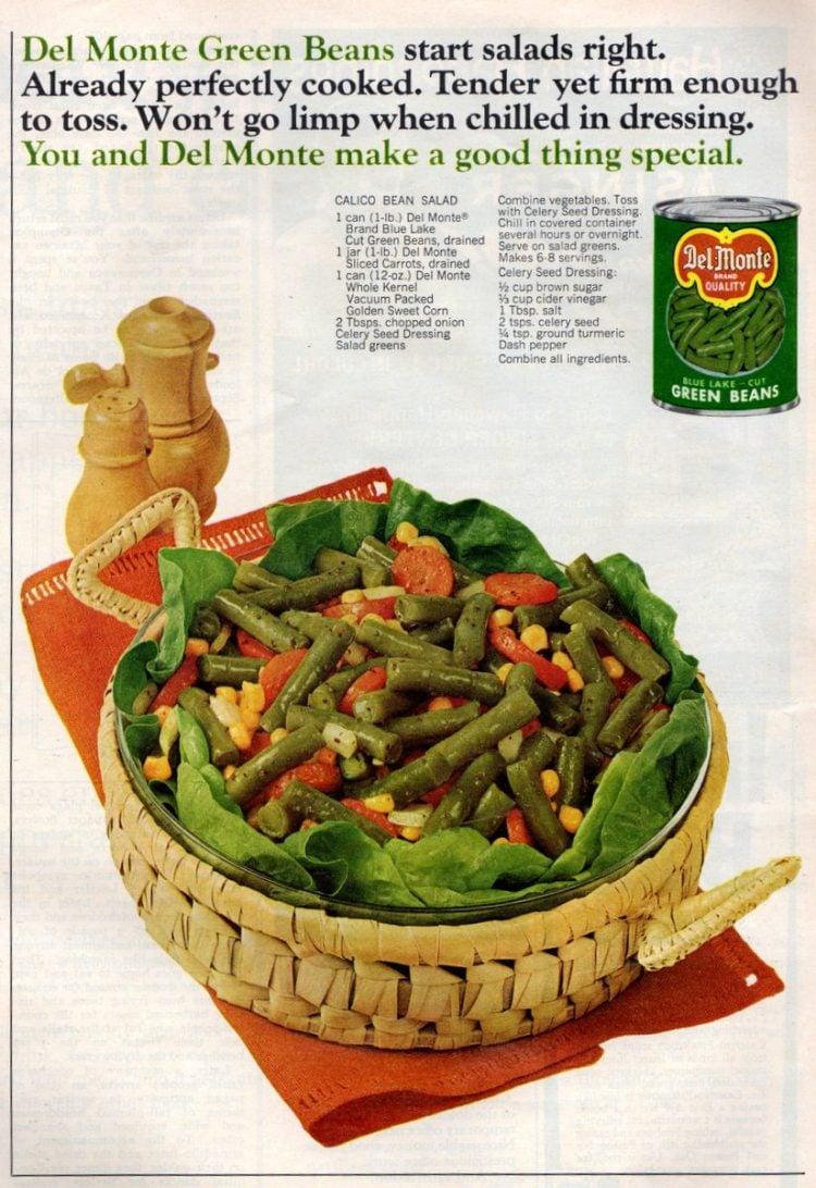 Calico bean salad recipe (1968)