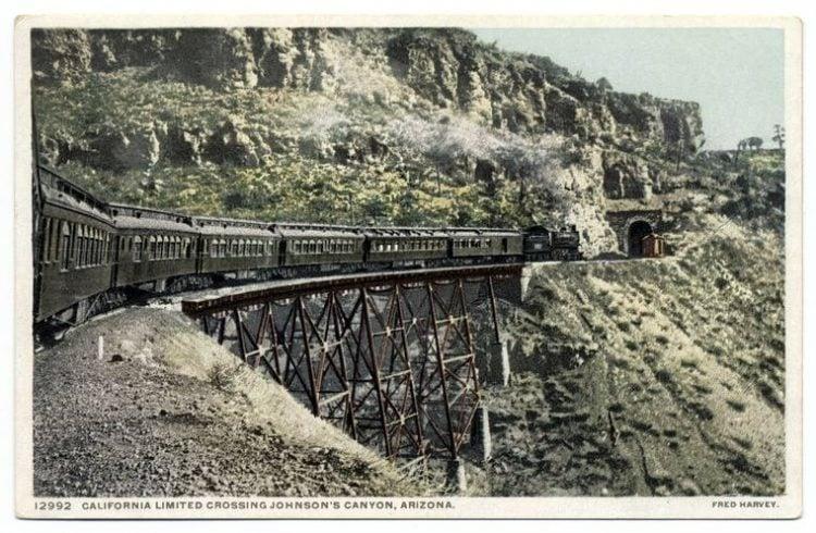 California Limited crossing Johnson's Canyon, Arizona