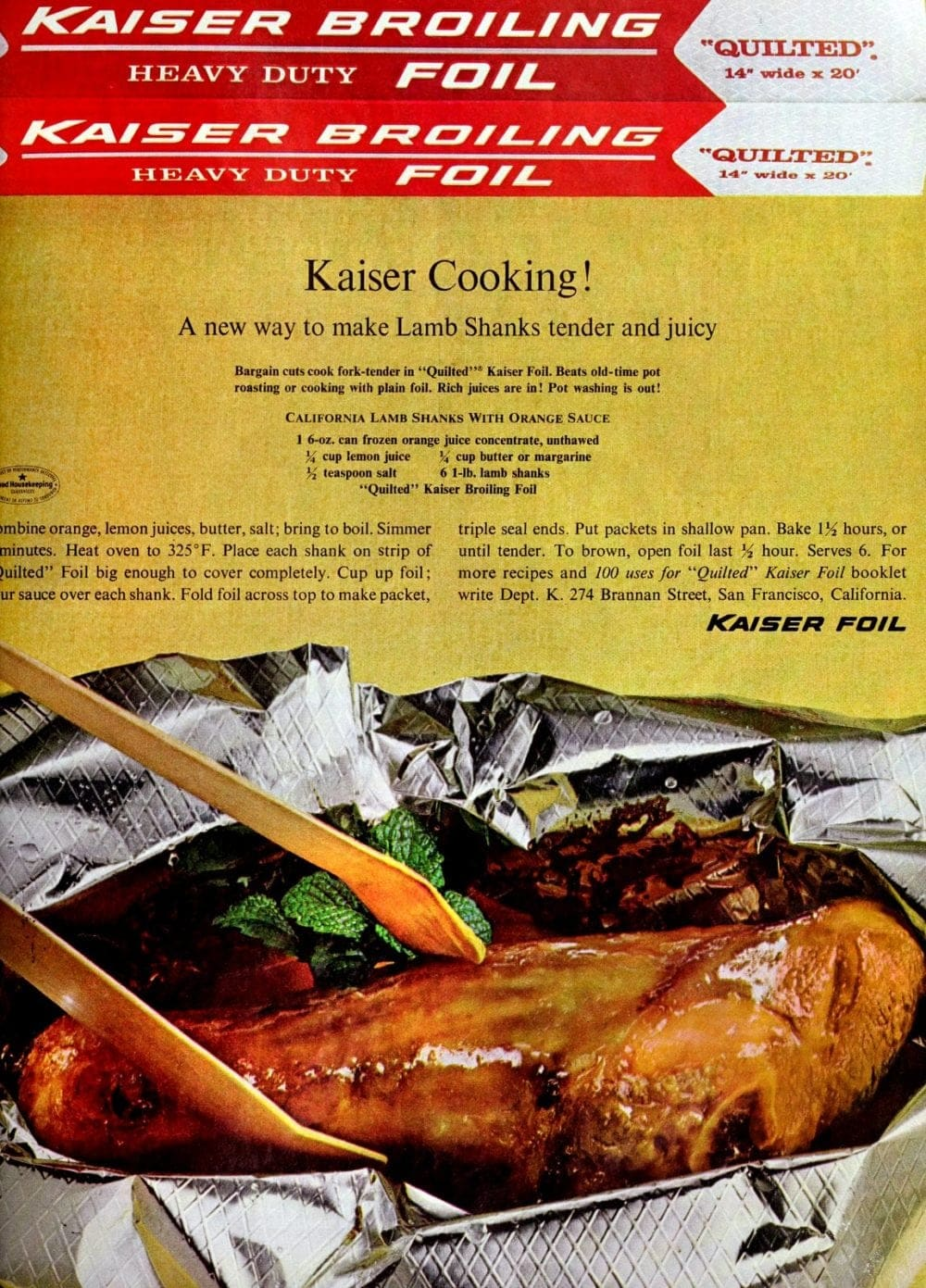 California lamb shanks recipe 1964