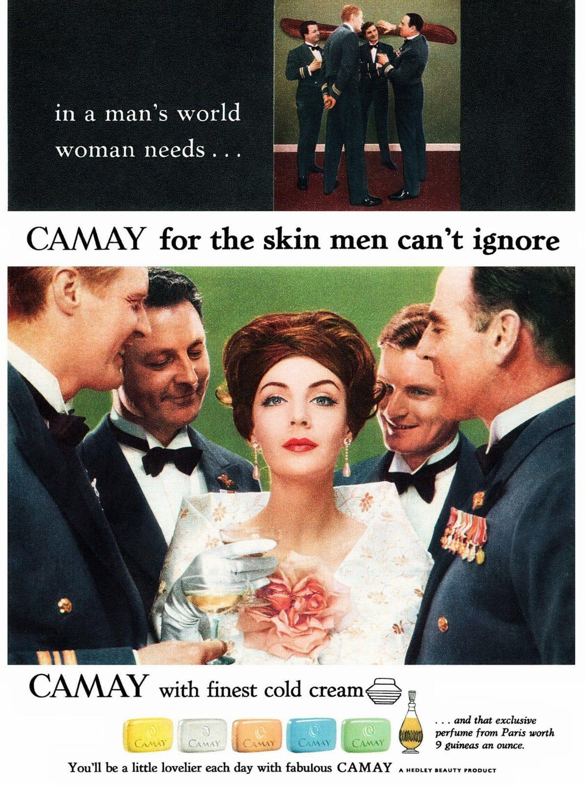 Camay soap bars from the sixties