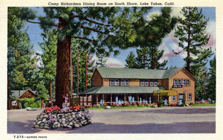 Camp Richardson dining room on South Shore, Lake Tahoe, Calif