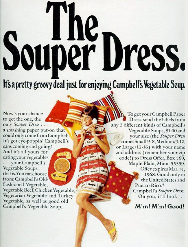 Campbell's Souper Dress - Vintage fashion