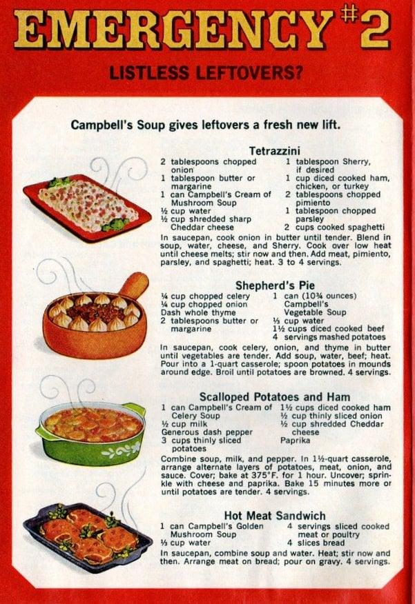 Campbell's emergency dinner 2 Listless leftovers