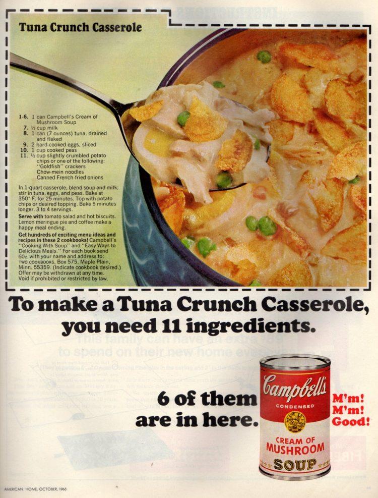 Campbell's tuna crunch casserole retro recipe (2)