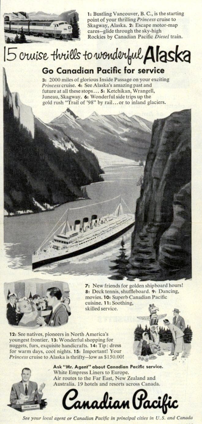 Canadian Pacific cruise lines 1950s