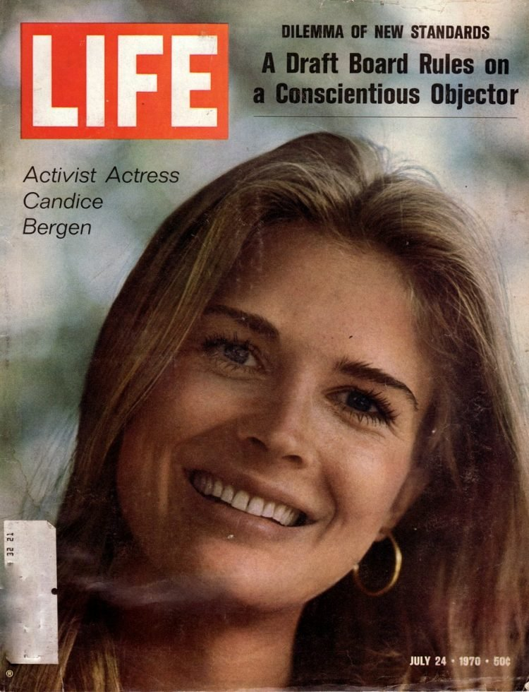 Life magazine cover: Activist actress Candice Bergen (July 24, 1970)
