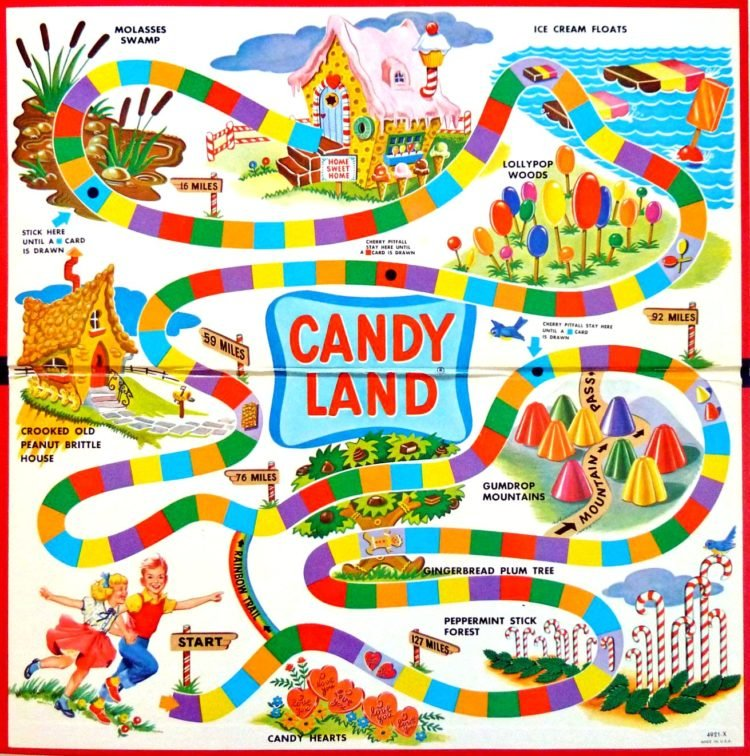 Vintage Candy Land game from the 1960s